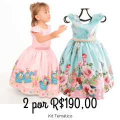 Kit Vestido de Festa Infantil