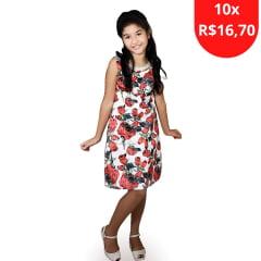 Vestido Infantil Casual Umbrela