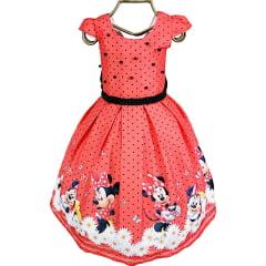 Vestido Festa Infantil Minnie