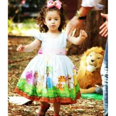 Vestido Festa Infantil Safari