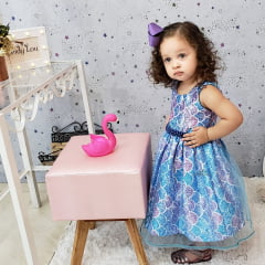 Vestido Festa Infantil Sereia