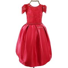 Vestido Festa Infantil Vermelho
