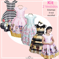 Kit 2 Vestidos Casual Infantil