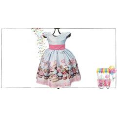 Vestido Menina Festa Confeitaria