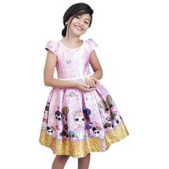 Vestido Menina Festa Lol