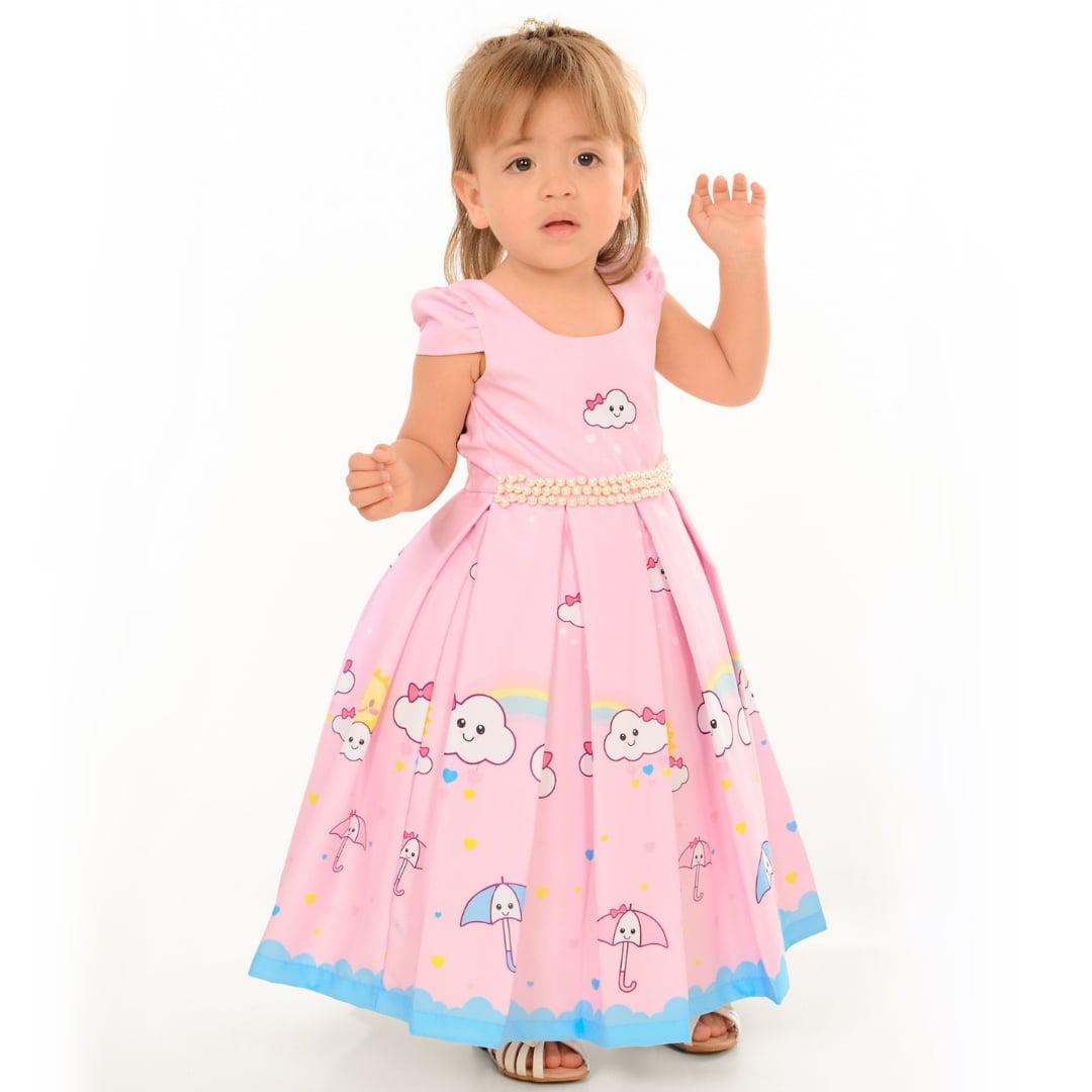 Vestido Infantil Chuva de Amor