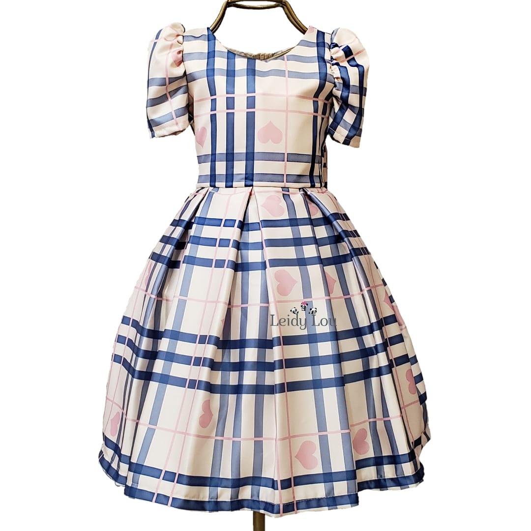 Vestido Menina Festa Xadrez